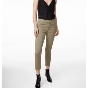J Brand • High-rise Cigarette Cropped Pants